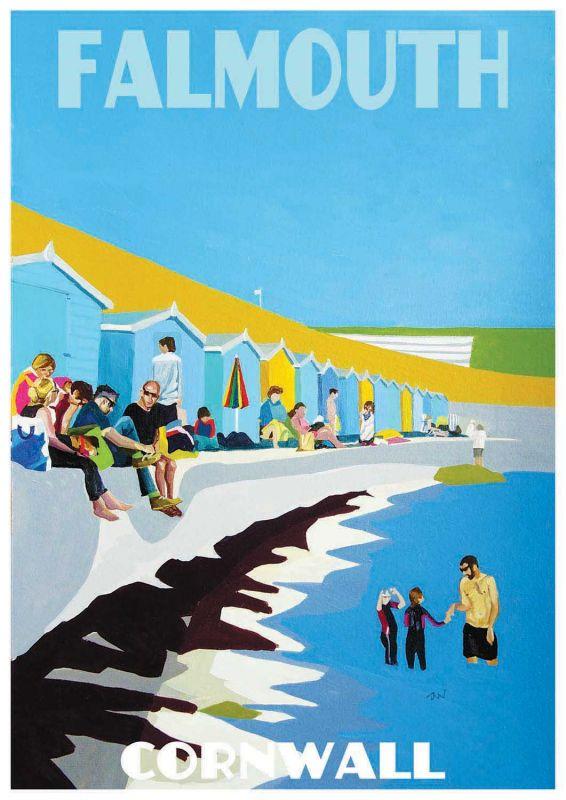 Artist Jo Witherington Cornwall Art - Castle Beach Falmouth