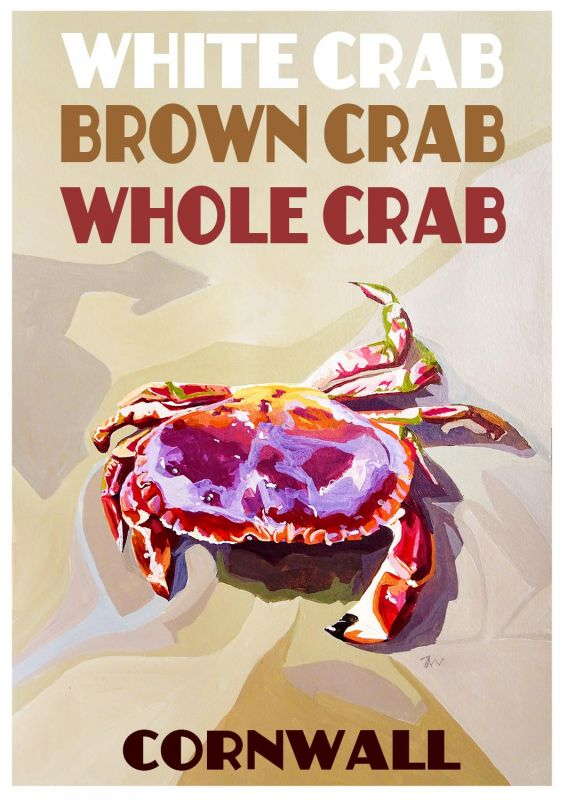 Artist Jo Witherington Cornwall Art - Cornish Crab