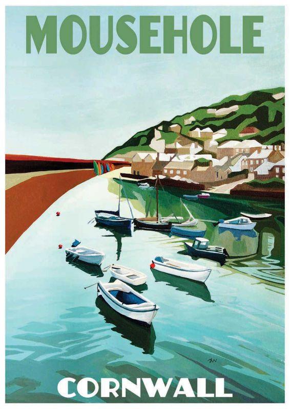 Artist Jo Witherington Cornwall Art - Mousehole Harbour