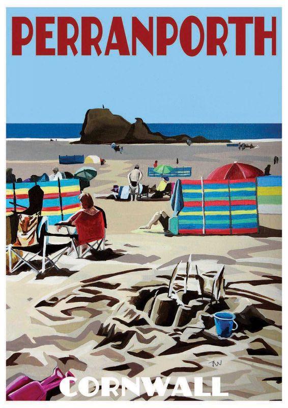 Artist Jo Witherington Cornwall Art - Perranporth Beach