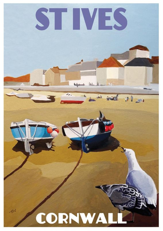 Artist Jo Witherington Cornwall Art - The harbour at St Ives
