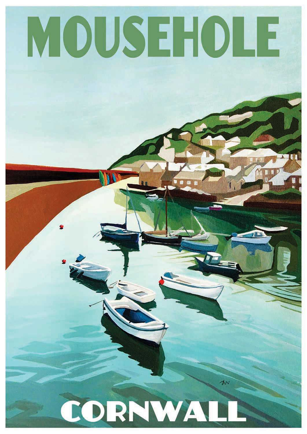 Original Painting of Mousehole, in Cornwall, by Artist Jo Witherington