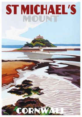 Original Painting of St Michael's Mount by Artist Jo Witherington