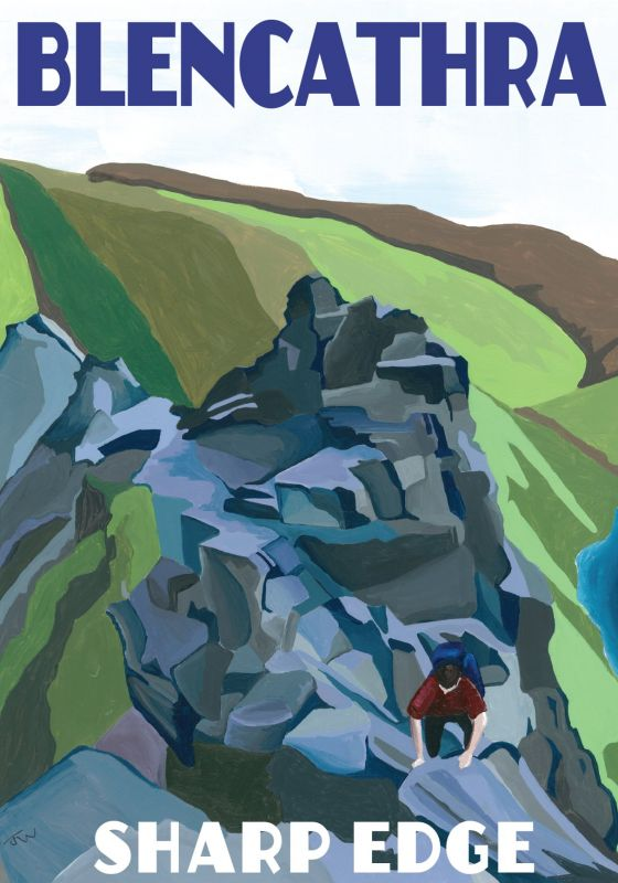 Blencathra, Cumbria. Lake District A3 Posters painted by Artist Jo Witherington