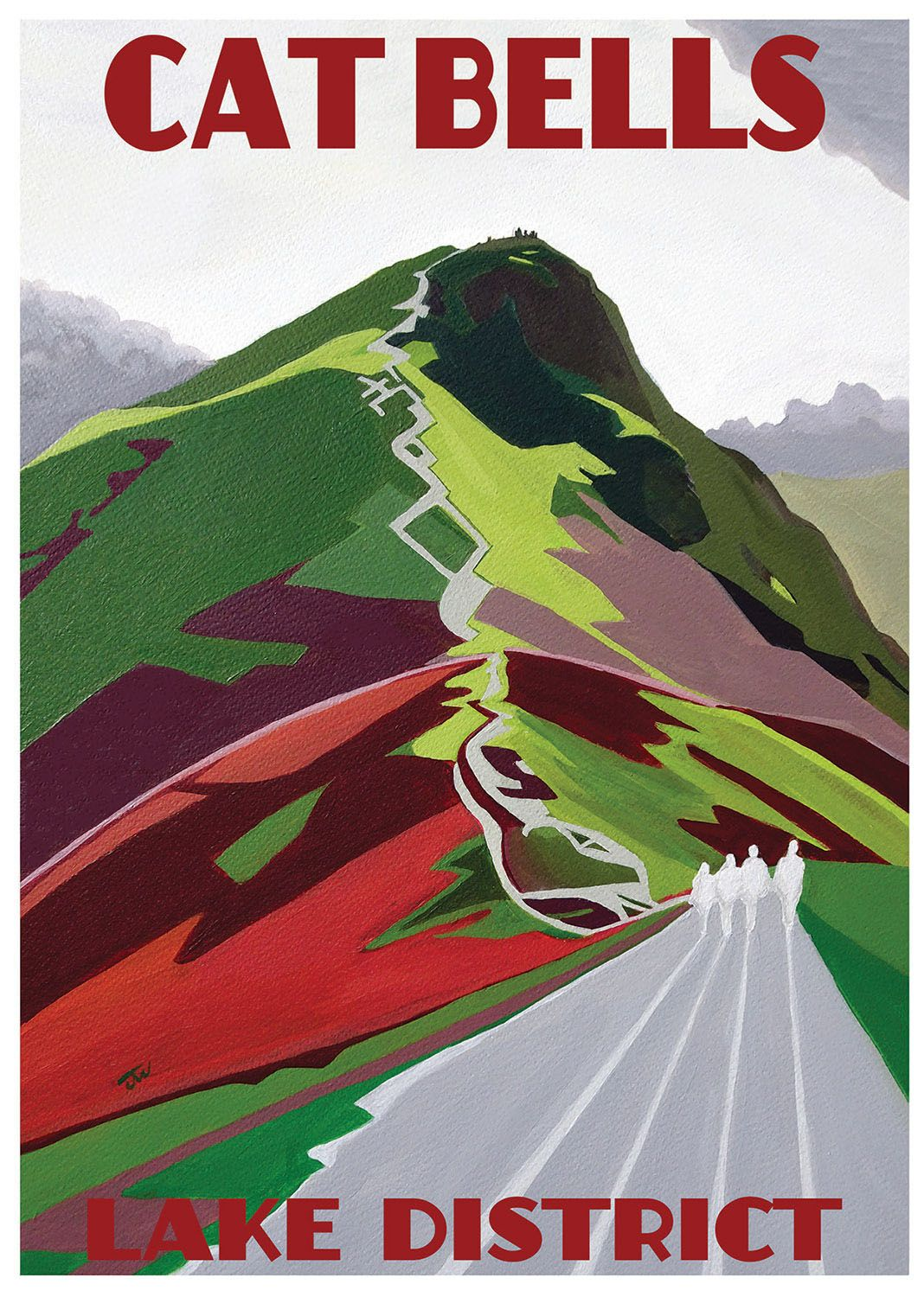 Jo Witherington, Artist - Cat Bells, Lake District