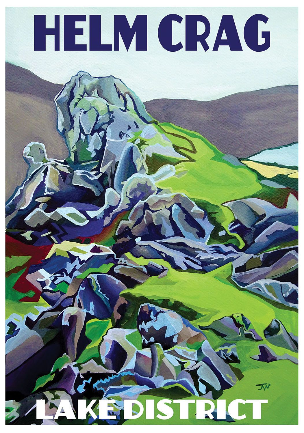 Jo Witherington, Artist - Helm Crag near Grasmere, Lake District