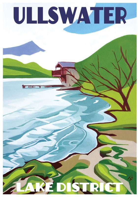 Jo Witherington, Artist - Ullswater near Pooley Bridge, Lake District