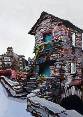 Bridge House Ambleside Limited Edition Print, painted by Artist Jo Witherington
