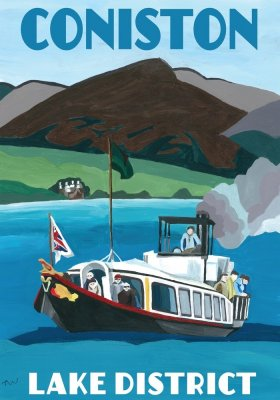 Coniston, Lake District, artwork painted by Jo Worthington