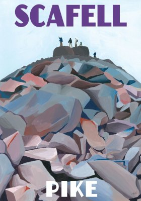 Scafell, Lake District, artwork painted by Jo Worthington